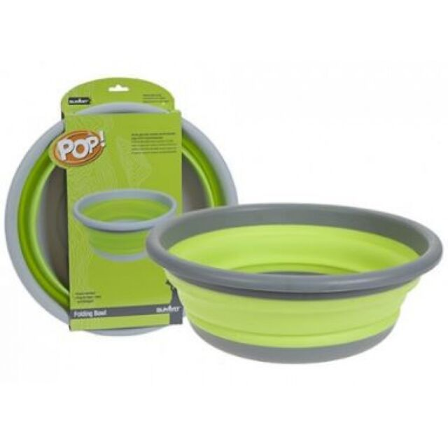 Summit POP 5L Folding Bucket in Lime Green Blue or Purple