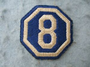WWII-US-Army-Patch-8th-Corps-Normandy-France-Europe-WW2