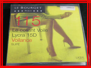 LE-BOURGET-NEUF-Taille-1-collant-voile-CANNELLE-15-D-Slipe-fantaisie-gousset