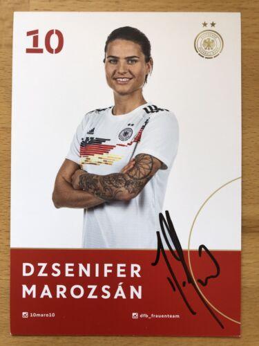 Dzsenifer Marozsan AK DFB Frauen 2019 Autogrammkarte original signiert
