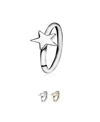 316l Surgical Steel Gold Pvd Seamless Annealed Nose Ring Hoop Star