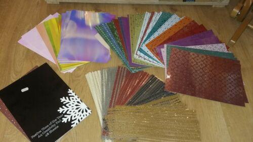 Kit de fabricación de tarjetas de Navidad crear /& Craft frustrado tarjeta Perla Tarjeta Brillo Espuma