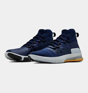 Delta Training Shoe Navy/Yellow UA 2019