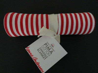 NWT Hanna Andersson Red Striped Organic Cotton Swaddle Blanket
