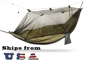Portable Double Hammock with Mosquito Net for Outdoor Camping Traveling - Large