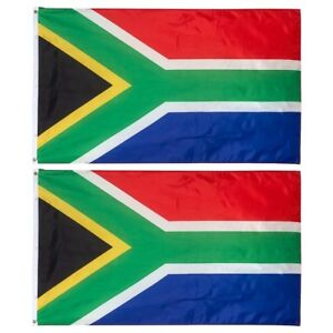 (2 Pack) 3x5 South African Flag 3'x5' House Banner Grommets Polyester