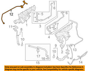 Details about PORSCHE OEM 13-16 Panamera 4 8L-V8 Turbocharger Turbo-Oil  Pipe Right 94810709271