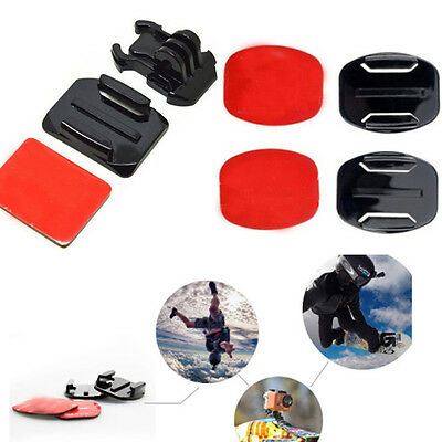 6PCS Sticker Strong Adhesive Pad Set For GoPro Hero 3+ 3 2 1 Helmet Mount Nice