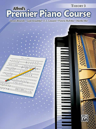 ALFRED/'S PREMIER PIANO COURSE THEORY BOOK LEVEL 3 MUSIC BOOK BRAND NEW ON SALE!!