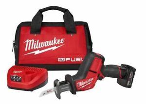 Milwaukee 2520-21XC M12 FUEL Brushless Hackzall Reciprocating Saw Kit 4.0 Ah NEW