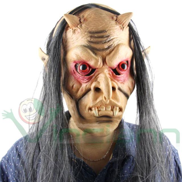 Maschera Demone horror inferno mostro carnevale halloween cosplay festa party