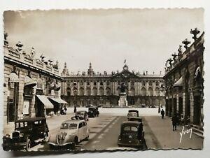 760-Antica-Cartolina-Nancy-Place-Stanislas-e-Hotel-De-Ville