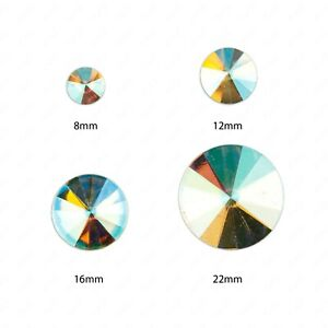 Faceted-AB-Clear-Circle-Flat-Back-Face-Body-Gems-Festival-Jewel-Make-up-Craft