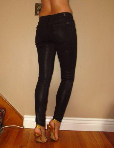 aspect cuir 24 Jeans Skinny All foncé 198 7 For 26 en similicuir Womens Mankind 8xUWAPq