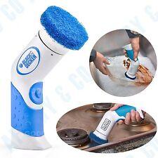Cordless Electric Scrubber Kitchen Bathroom Handheld Dish Tile Tub Cleaner Brush