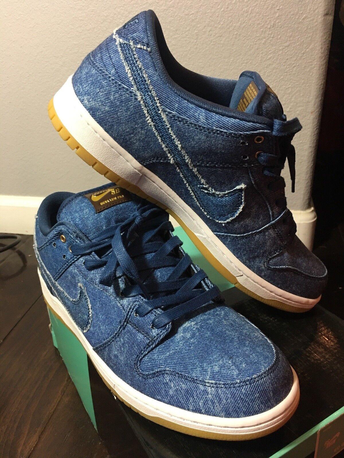 pretty nice fc282 d9ab5 Mens Nike SB Dunk Low TRD QS Utility Blue White Gum Brown 883232-441 US 12  for sale online | eBay