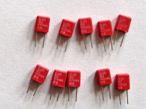 10nF 10 St 50V  RM 2,5 Wima MKS02   0,01 µF