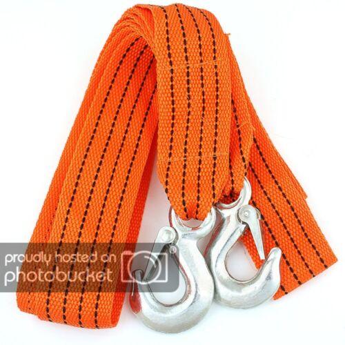 Câble de remorquage 5000 kg 5 T 4,0 m avec 2 Sécurité Crochet de traction bergegurt