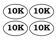 K1009 Run Guy Heartbeat © Pulse Running 10K 5K 13.1 26.2 Voiture Camion Autocollant Sticker