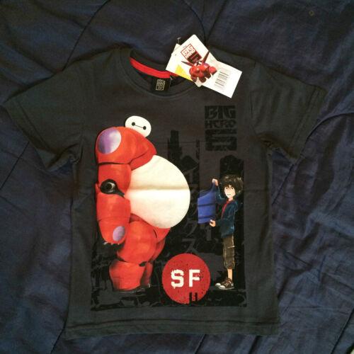 Disney Big Hero 6 Movie Boys T Shirt Tee Baymax Hiro Hamada Top Tshirt Six Kids