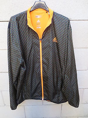 Veste ADIDAS ADIZERO Climacool Formotion tennis jacket noir orange L | eBay