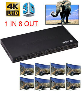 4K-8-Port-Out-1x8-HDMI-Splitter-4kx2k-1080P-Converter-for-PS4-DVD-XBOX-PC-to-TV