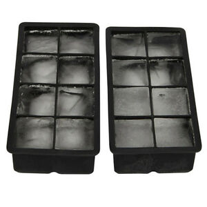 big chiller combo large square round ice cube mold silicone tray jumbo giant ebay. Black Bedroom Furniture Sets. Home Design Ideas
