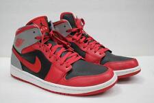 6c6467fdee9 item 4 NIKE Air Jordan Retro 1 Mid Basketball Shoes SZ 11 Fire Red Blk Grey  554724 603 -NIKE Air Jordan Retro 1 Mid Basketball Shoes SZ 11 Fire Red Blk  Grey ...