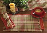 Placemat - Heartfelt By Park Designs - Kitchen Dining Red Tan Gold
