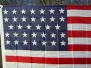 34 STAR United States UNION CIVIL WAR Flag 1861-1863 3x5 ...
