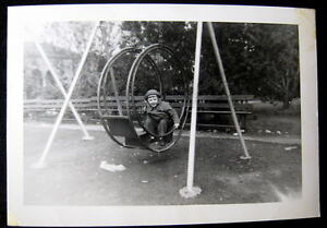 1920 S Old Round Metal Swing Set With Little Girl Photo Ebay