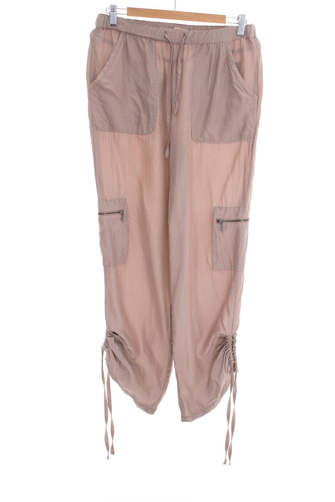 65307baa01 SCHUMACHER Gr. S Damen Sommerhose Trousers Pants Blau Taupe Hose ntqszp2068- Hosen
