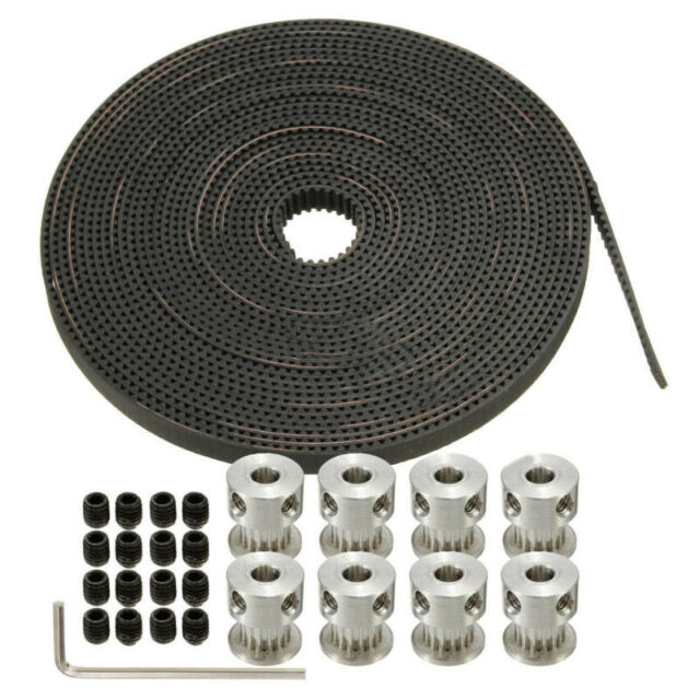 Steel Wire Reinforced PU GT2 Timing Belt 2mm pitch 10mm wide for 3D Printer CNC