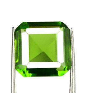 Brazilian Olive Green Peridot Gemstone Natural 5-7 Ct Octagon Cut AGI Certified