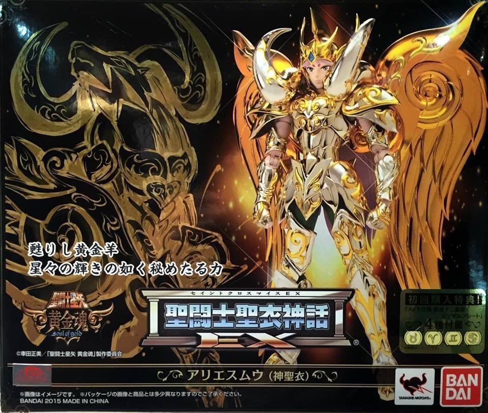BANDAI Saint Seiya Cloth Myth EX Soul of God Aries Mu Figure 180mm
