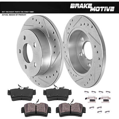 Front Drilled /& Slotted Brake Rotors for Chevy Corvette 1997-2004 98 99 2010