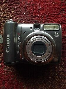 Image Is Loading Canon PowerShot A590 IS 8 0MP Digital Camera
