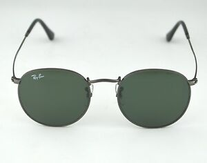 3f0d6eed7ab Ray Ban RB3447 Round Metal 029 Gunmetal Frame  Green Classic G-15 ...