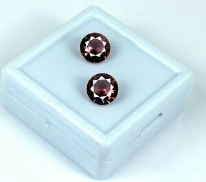 Natural 4.40 Ct Pink Sapphire Ring Size Gemstone Pair Round Cut Certified DG45