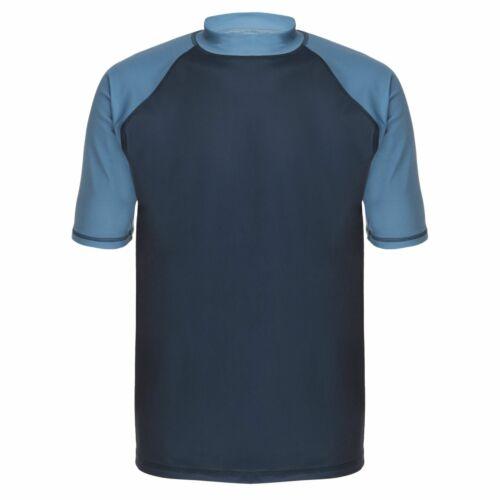 Mens Navy Blue Short Sleeve Rashie