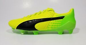 25ab5b5b8 Puma EvoSpeed 17 SL FG Mens Soccer Cleats Leather Yellow Black Size ...