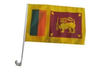 """12x18 12/""""x18/"""" Wholesale Lot of 3 Sri Lanka Stick Flag wood Staff"""