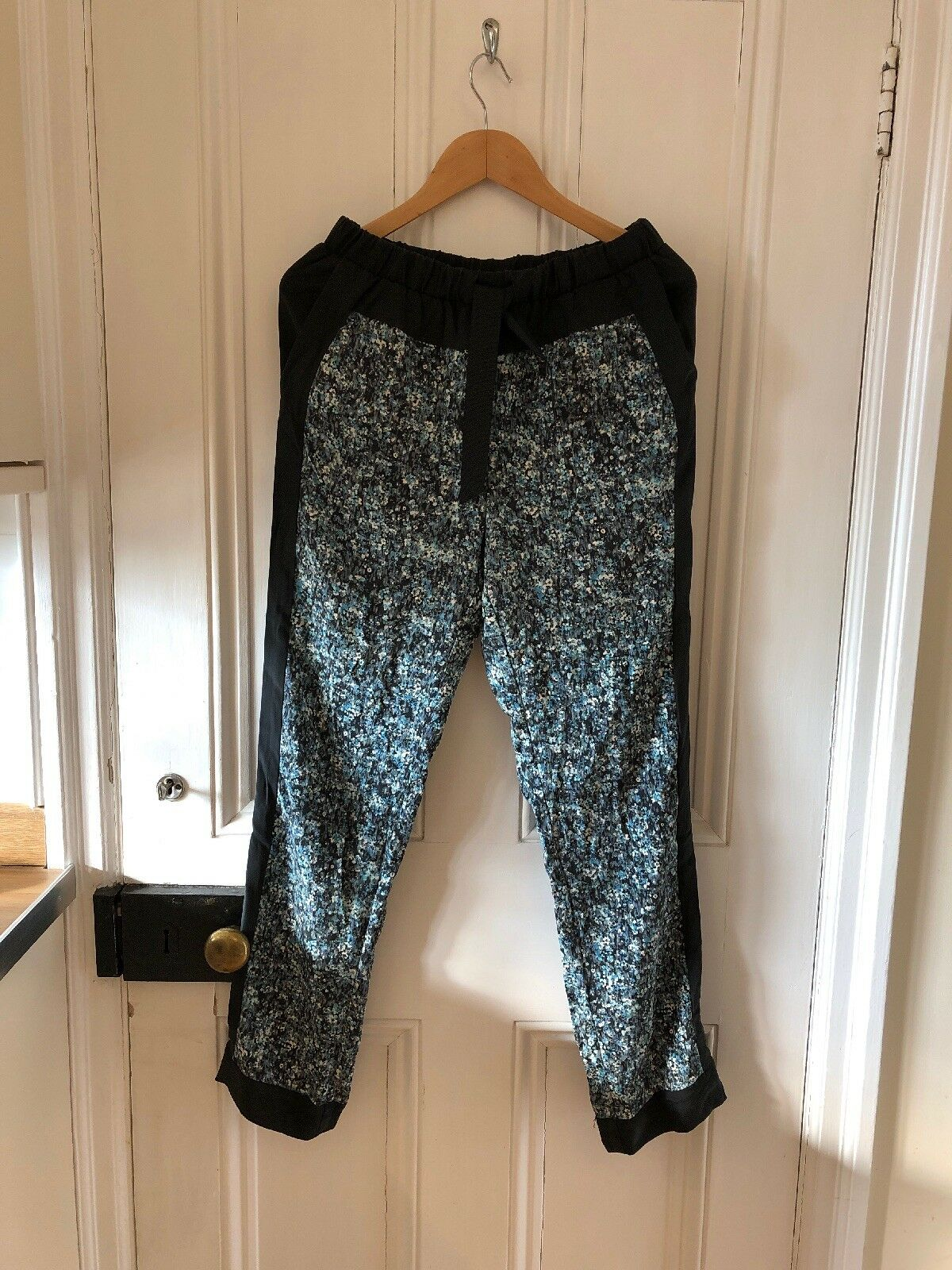 Sea New York Ladies Silk Blend Panel Lightweight Trousers Pants - US4 = UK8 S M