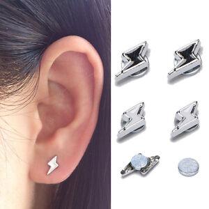 1pair avant-gardiste hommes femmes aimant cristal boucles d/'oreilles goujon IU