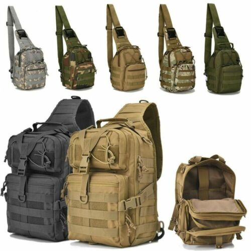 Tactical Backpack Military Shoulder Crossbody Bag Hiking Camping Pack Outdoors