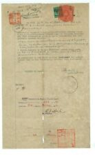 Malaya Document 27 Oct 1941 - with Japanese Occupation Stamps