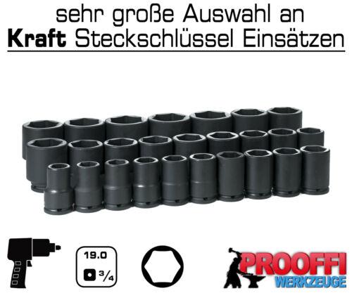 """KRAFT Power Schlagschrauber Nuss 3//4/"""" Stecknuss 25 mm Steckschlüssel 6-Kant Kurz"""