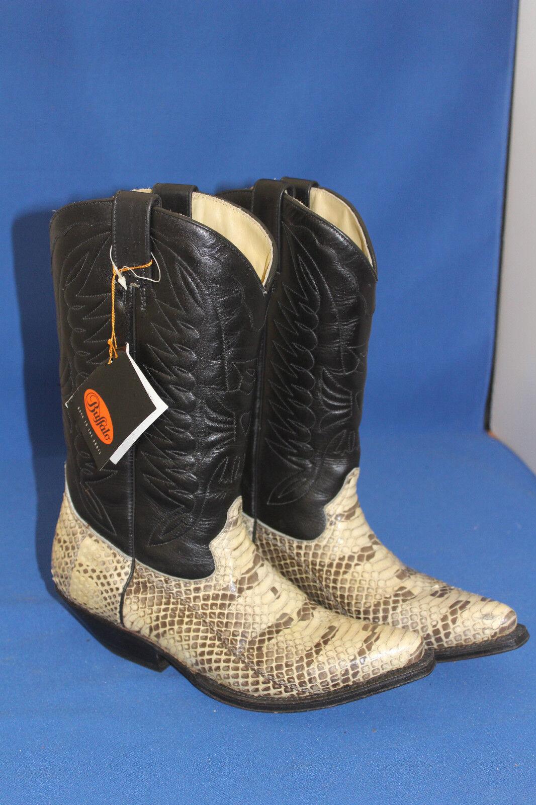 Buffalo Boots Stiefel westernstiefel python schlange cowboystiefel  gr. 41 neu