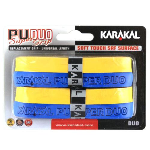 Karakal PU Super Grip DUO Twin Pack Assorted Color Tennis Squash Badminton