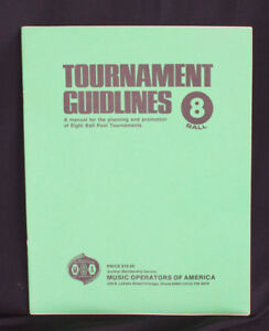 Details about Vintage MOA Tournament Guidelines for 8 Ball Pool Tournaments  Book Plan Promo